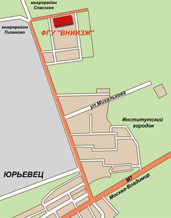 Схема проезда до ФГБУ «ВНИИЗЖ»